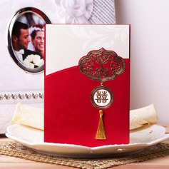 Asian Style Wrap & Pocket Invitation Cards With Tassels