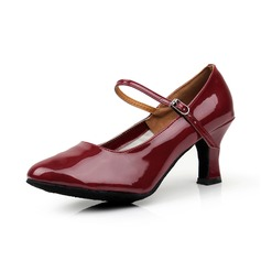 Women's Leatherette Heels Pumps Modern With Buckle Dance Shoes
