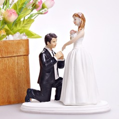 """Cinderella Moment"" Resin Wedding Cake Topper"