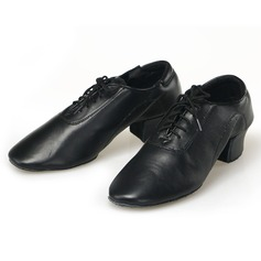 Men's Leatherette Pumps Sneakers Latin With Lace-up Dance Shoes