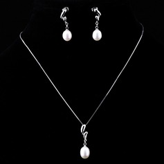 Classic Pearl/925 silver and chain Ladies' Jewelry Sets