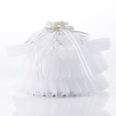 Delicate Ring Box With Ribbons/Faux Pearl