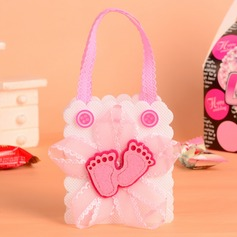 Feet Cut-out Handbag shaped Favor Bags With Bow (Set of 12)