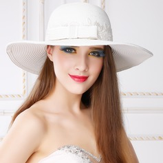 Ladies' Classic Summer Papyrus With Bowknot Straw Hat