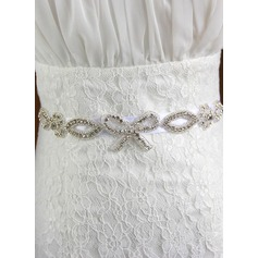 Simple Ribbon Sash With Rhinestones