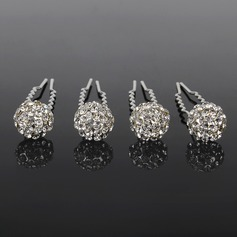 Lovely Rhinestone Hairpins Set Of 4