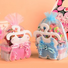Baby Dress Design Basket Favor Bags With Ribbons