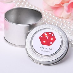 Personalized Dice Design Tins Favor Tin