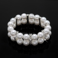 Strand Alloy/Pearl With Pearl/Rhinestone Ladies' Bracelets