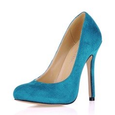 Suede Stiletto Heel Pumps Closed Toe shoes