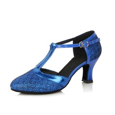 Women's Leatherette Heels Modern With T-Strap Dance Shoes