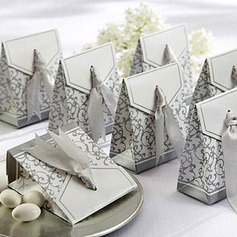 25th Anniversary Favor Box With Silver Ribbon (Set of 12) (050005520)