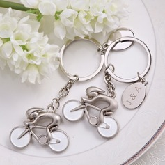 "Personalized ""Bicycle"" Zinc Alloy Keychains"
