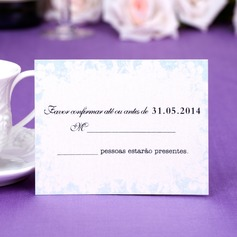 Personalized Floral Design Pearl Paper Response Cards