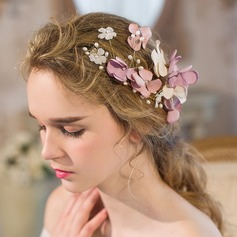Elegant Imitation Pearls/Silk Flower Flowers & Feathers/Headbands