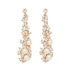 Pretty Alloy/Pearl/Rhinestones Ladies' Earrings
