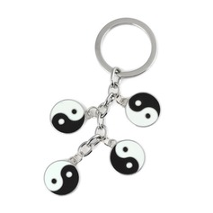 Cool Trigrams Design Chrome Keychains