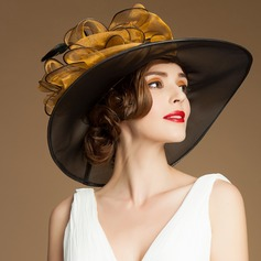 Ladies' Elegant Spring/Summer/Autumn Organza With Bowler/Cloche Hat