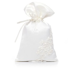Lovely Satin With Imitation Pearl/Lace Bridal Purse