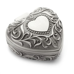 Sweet Heart Alloy/Silver Plated Ladies' Jewelry Box