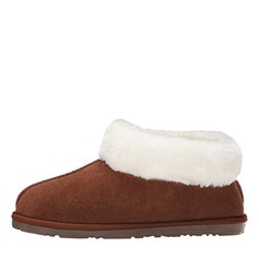 Women's Suede Flat Heel Flats Closed Toe Boots Ankle Boots Snow Boots With Fur shoes