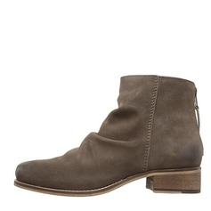 Women's Real Leather Low Heel Closed Toe Boots Ankle Boots shoes