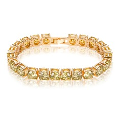 Shining Zircon Copper Platinum Plated Ladies' Fashion Bracelets