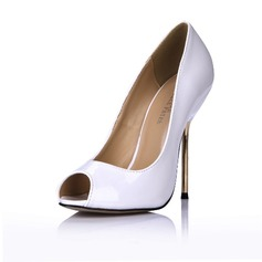 Patent Leather Stiletto Heel Sandals Pumps Peep Toe shoes