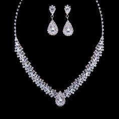 Gorgeous Alloy With Rhinestone Women's Jewelry Sets