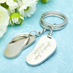 Personalized Flop Stainless Steel Keychains (Set of 6)