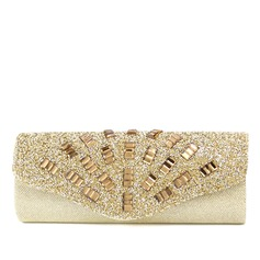 Unique Satin With Crystal/ Rhinestone Clutches