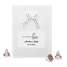 """Personalized """"All You Need is Love"""" Nonwoven Fabric Favor Bags With Bow (Set of 12)"""