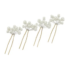 Lovely Alloy/Pearl Hairpins (Set of 4)