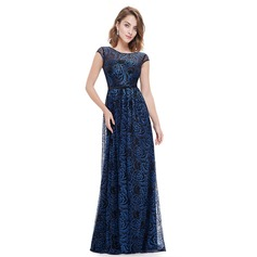 Polyester/Lace/Satin With Print Maxi Dress (199091366)