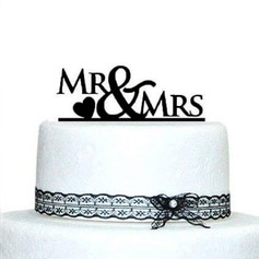 Letter Mr. & Mrs. Acrylic Wedding Cake Topper