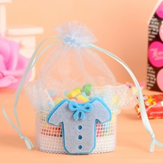 Baby Dress Design Basket Favor Bags With Ribbons (Set of 12)