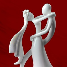 Bride And Groom Ceramic Wedding Cake Topper
