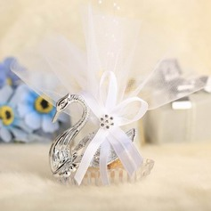 Swan design Favor Boxes With Ribbons