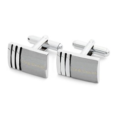 Personalized Classic Pattern Stainless Steel Cufflinks