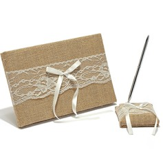 Splendor Bow Guestbook & Pen Set