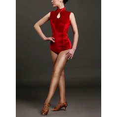 Women's Dancewear Velvet Latin Dance Outfits