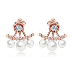 Lovely Copper With Imitation Pearls Women's/Ladies' Earrings