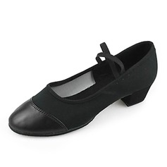 Leatherette Heels Practice Dance Shoes