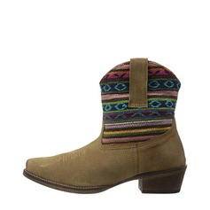 Women's Suede Low Heel Boots Ankle Boots shoes