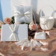 Classic Wedding Collection Set in Ivory Satin (5 Pieces)(100017953)