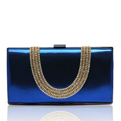 Attractive PU With Crystal/ Rhinestone Clutches