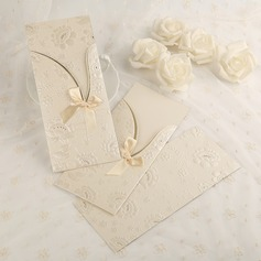 Classic Style Side Fold Invitation Cards With Bows/Ribbons