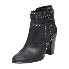 Women's Leatherette Stiletto Heel Boots Ankle Boots With Rivet shoes