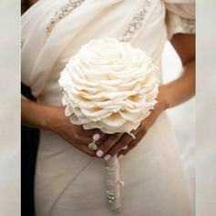 Pretty Round Artificial Silk Bridal Bouquets/Bridesmaid Bouquets -