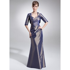 Trumpet/Mermaid Sweetheart Floor-Length Taffeta Mother of the Bride Dress With Ruffle